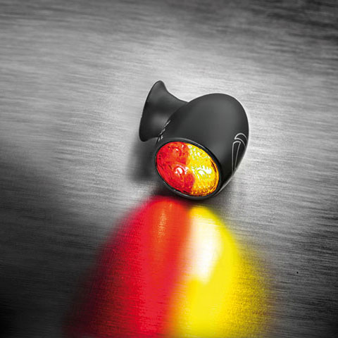 【車検対応】ケラーマン■ハイパワーLED仕様 世界最小テールライト/ブレーキライト機能付きウインカー バレットアトーDFシリーズ マットブラック 1個 PVコンプリートキット [KM156-200]