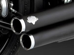 ソフテイル ビッグショット スタッガード フルエキゾースト ブラック