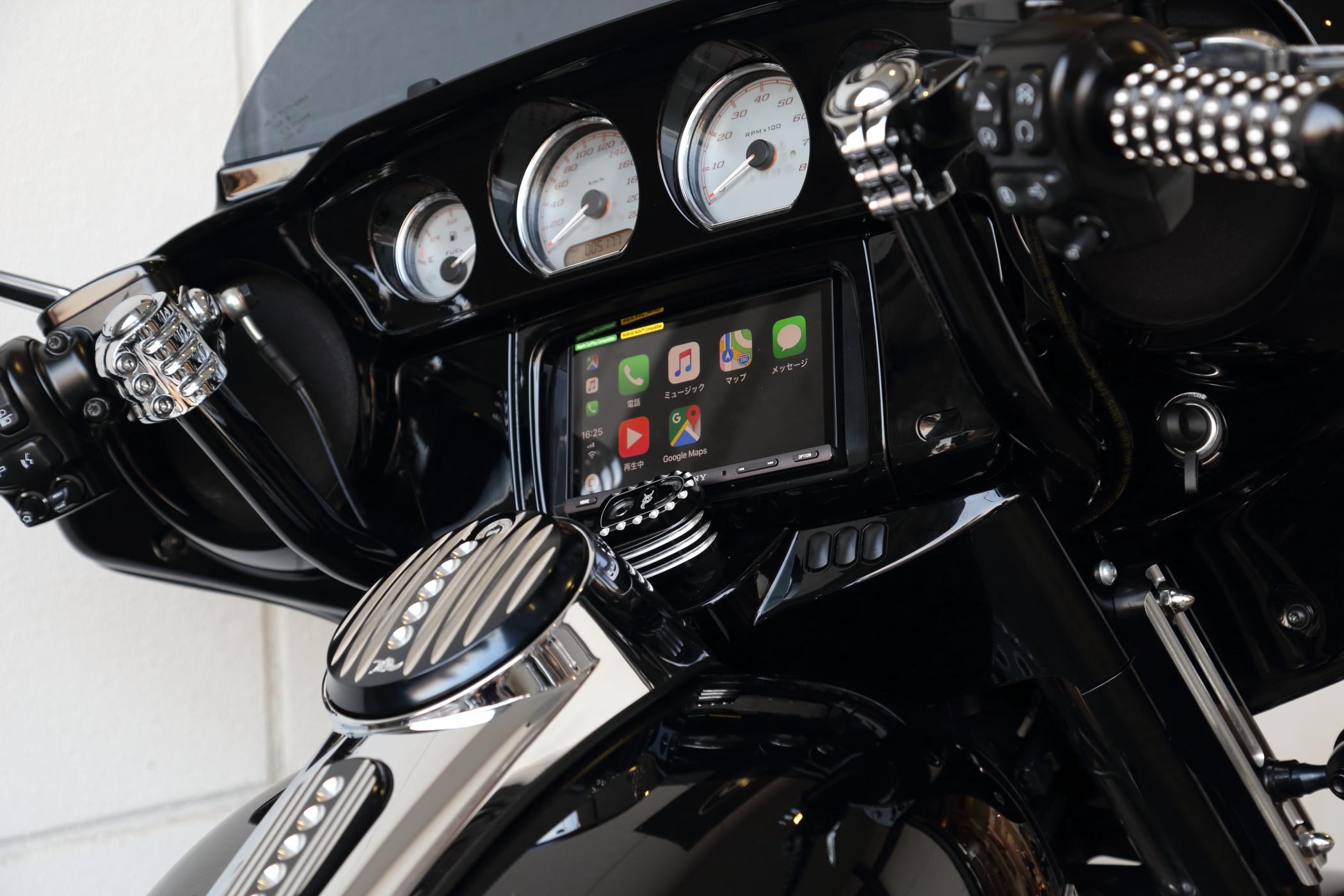 ハーレーでApple Car Playが使える!!SONY XAV-AX5000予約販売開始