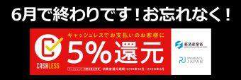 キャッシュレス5%還元「先取り」キャンペーン
