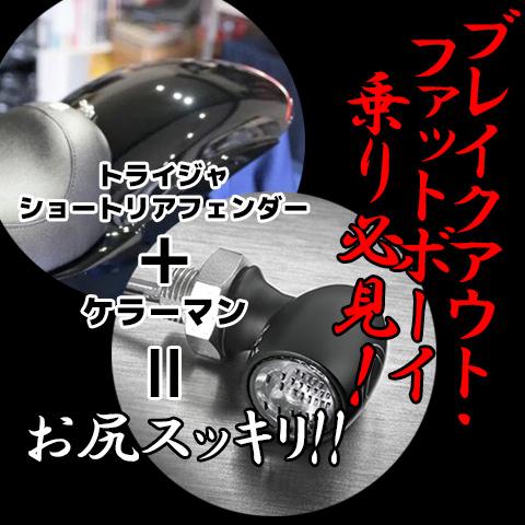 ブレイクアウト/ファットボーイ【FXBRS/FLFBS】乗り必見!鉄製!ショートリアフェンダーキット!