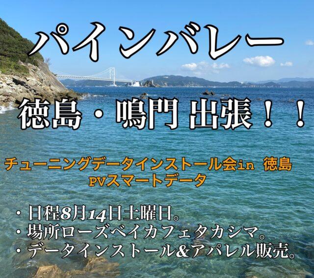 パインバレーが徳島へ出張!チューニングデータインストール&アパレル販売します!