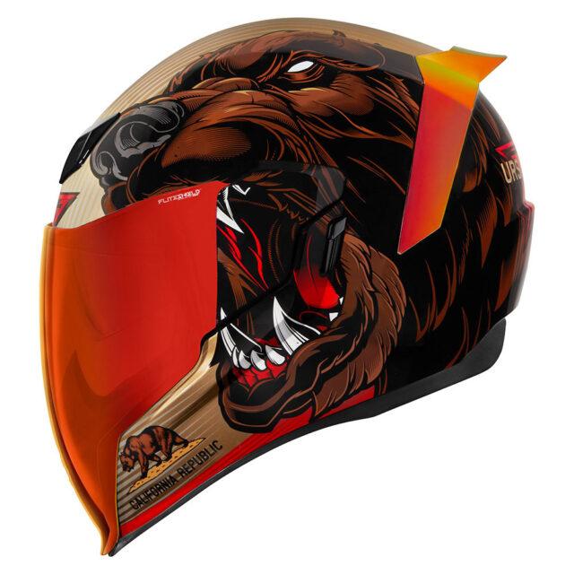 新商品情報【ICON■アイコン エアフライト ヘルメット URSA メジャー(おおぐまざ) ゴールド】